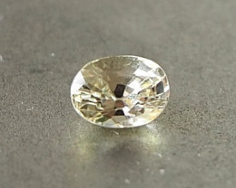 0.51ct clean unheated yellow sapphire