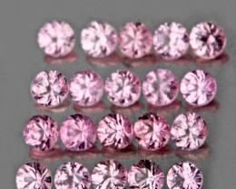 2.10 mm Round 20 pcs Pink Sapphire [VVS]