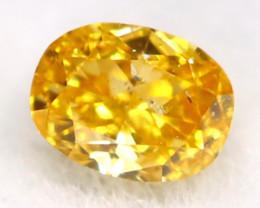 Intense Yellow Orange Diamond 0.07Ct Untreated Genuine Fancy Diamond AT0290