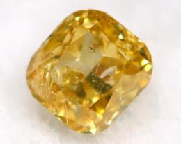 Yellow Diamond 0.07Ct Untreated Genuine Fancy Diamond AT0292