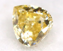 Light Yellow Diamond 0.06Ct Untreated Genuine Fancy Diamond AT0296