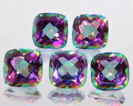 12.45 Cts 5 Pcs Fancy Multi Color Rainbow Quartz Natural Gemstone Lot