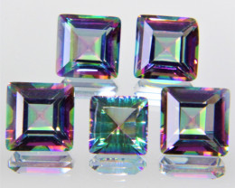 11.65 Cts 5 Pcs Fancy Multi Color Rainbow Quartz Natural Gemstone Lot