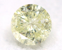 0.24Ct Natural Fancy Yellowish White Brilliant Round Cut Diamond BM0002