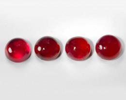 2.35 Cts 4pcs Cabochon Pinkish Red Natural Ruby BURMA Gemstones