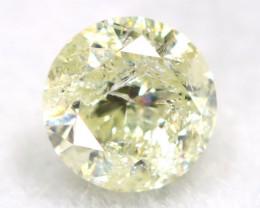 0.27Ct Natural Fancy Yellowish White Brilliant Round Cut Diamond BM0003