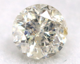 0.18Ct Natural Fancy Yellowish White Brilliant Round Cut Diamond BM0004