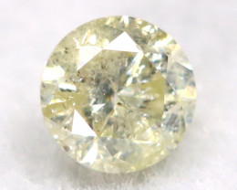 0.18Ct Natural Fancy Yellowish White Brilliant Round Cut Diamond BM0005