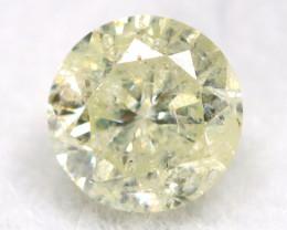 0.34Ct Natural Fancy Yellowish White Brilliant Round Cut Diamond BM0006