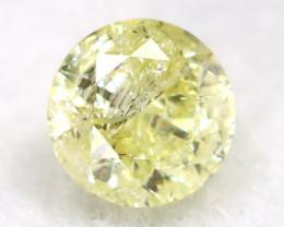 0.20Ct Natural Fancy Yellowish White Brilliant Round Cut Diamond BM0008