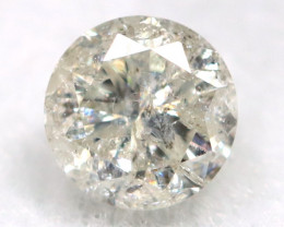 0.21Ct Natural Fancy Yellowish White Brilliant Round Cut Diamond BM0009