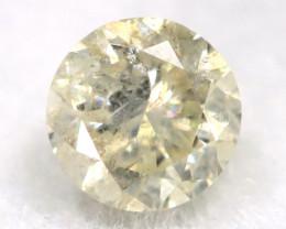 0.21Ct Natural Fancy Yellowish White Brilliant Round Cut Diamond BM0010