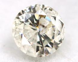 0.24Ct Natural Fancy Yellowish White Brilliant Round Cut Diamond BM0012