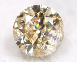 0.25Ct Natural Fancy Yellowish White Brilliant Round Cut Diamond BM0013