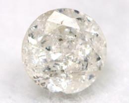0.17Ct Natural Fancy Yellowish White Brilliant Round Cut Diamond BM0014