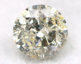 0.17Ct Natural Fancy Yellowish White Brilliant Round Cut Diamond BM0015