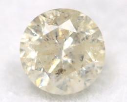 0.22Ct Natural Fancy Yellowish White Brilliant Round Cut Diamond BM0016