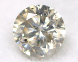 0.16Ct Natural Fancy Yellowish White Brilliant Round Cut Diamond BM0017