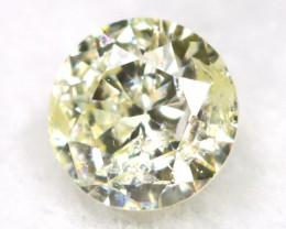 0.14Ct Natural Fancy Yellowish White Brilliant Round Cut Diamond BM0020