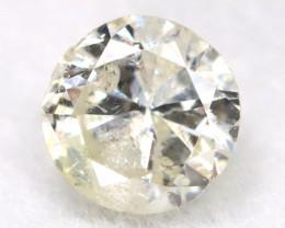 0.25Ct Natural Fancy Yellowish White Brilliant Round Cut Diamond BM0022