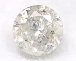 0.20Ct Natural Fancy Yellowish White Brilliant Round Cut Diamond BM0023