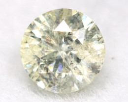 0.14Ct Natural Fancy Yellowish White Brilliant Round Cut Diamond BM0027