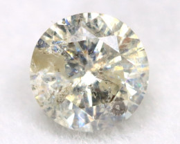 0.23Ct Natural Fancy Yellowish White Brilliant Round Cut Diamond BM0032