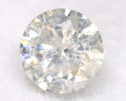 0.21Ct Natural Fancy Yellowish White Brilliant Round Cut Diamond BM0033
