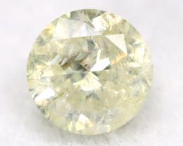 0.19Ct Natural Fancy Yellowish White Brilliant Round Cut Diamond BM0036