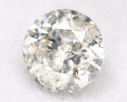 0.19Ct Natural Fancy Yellowish White Brilliant Round Cut Diamond BM0037