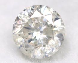 0.24Ct Natural Fancy Yellowish White Brilliant Round Cut Diamond BM0038