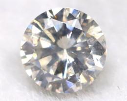 0.20Ct Natural Fancy Yellowish White Brilliant Round Cut Diamond BM0039