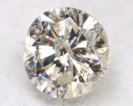 0.17Ct Natural Fancy Yellowish White Brilliant Round Cut Diamond BM0043