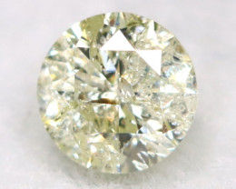0.19Ct Natural Fancy Yellowish White Brilliant Round Cut Diamond BM0045