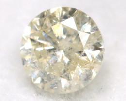 0.20Ct Natural Fancy Yellowish White Brilliant Round Cut Diamond BM0046