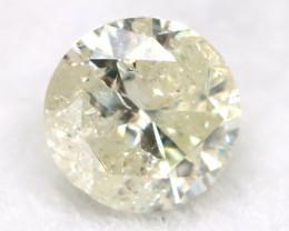 0.20Ct Natural Fancy Yellowish White Brilliant Round Cut Diamond BM0050