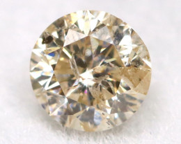 0.15Ct Natural Fancy Yellowish White Brilliant Round Cut Diamond BM0051
