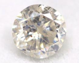 0.15Ct Natural Fancy Yellowish White Brilliant Round Cut Diamond BM0060