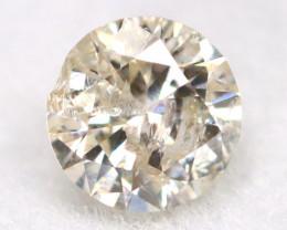 0.16Ct Natural Fancy Yellowish White Brilliant Round Cut Diamond BM0061