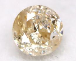 0.20Ct Natural Fancy Yellowish White Brilliant Round Cut Diamond BM0062