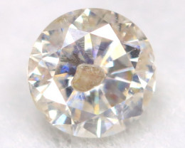 0.20Ct Natural Fancy Yellowish White Brilliant Round Cut Diamond BM0063