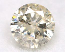 0.16Ct Natural Fancy Yellowish White Brilliant Round Cut Diamond BM0064