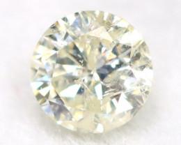 0.19Ct Natural Fancy Yellowish White Brilliant Round Cut Diamond BM0075