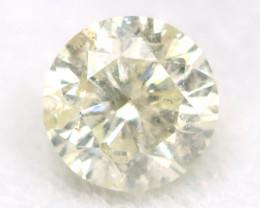 0.16Ct Natural Fancy Yellowish White Brilliant Round Cut Diamond BM0076