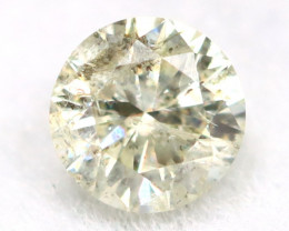 0.16Ct Natural Fancy Yellowish White Brilliant Round Cut Diamond BM0080