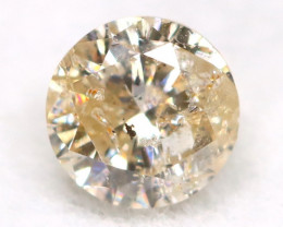 0.21Ct Natural Fancy Yellowish White Brilliant Round Cut Diamond BM0083