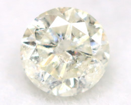 0.25Ct Natural Fancy Yellowish White Brilliant Round Cut Diamond BM0088
