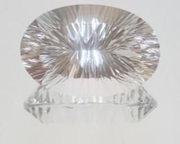 89.8 Ct Big Rock Crystal Quartz Faceted Oval 37x24.5mm.-(SKU 410)