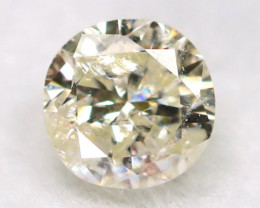 0.17Ct Natural Fancy Yellowish White Brilliant Round Cut Diamond BM0091