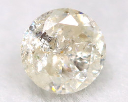 0.19Ct Natural Fancy Yellowish White Brilliant Round Cut Diamond BM0092